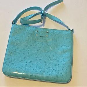 Kate ♠️ Spade blue tablet shoulder bag